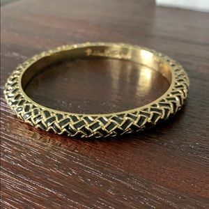 Lilly Pulitzer gold and black bangle bracelet